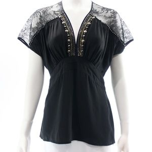 NANETTE LEPORE LACE TOP NEW WITH TAGS SIZE 4
